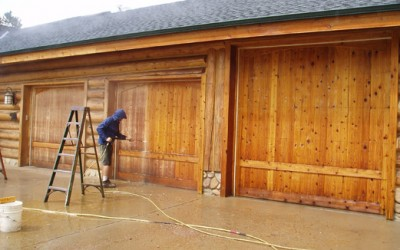 Power-Stripping-Cedar-Garage-Doors