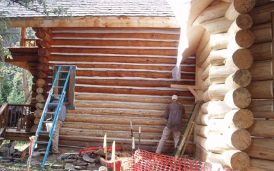 Staining-old-structure-next-to-new-structure
